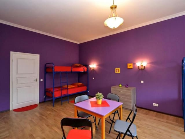 Bed in female 4-bed dormitory room . Hostel City812
