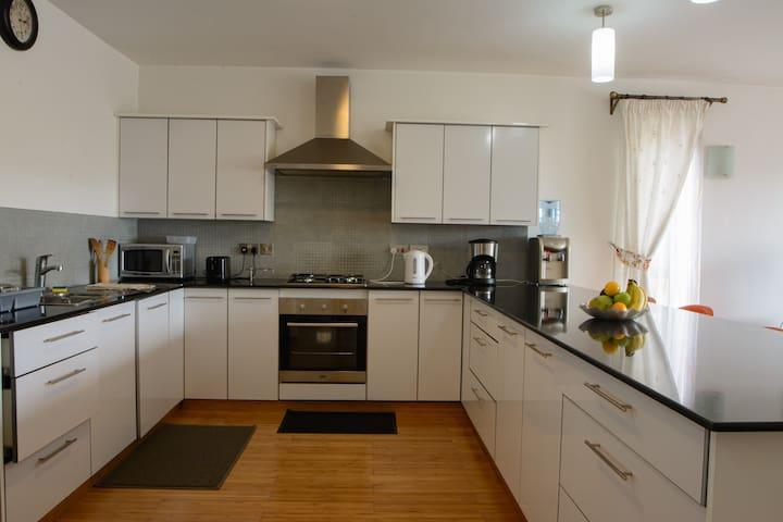 Elegant open plan kitchen