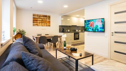 110 sq.m.-Mosel Close-Netflix-Grill-Terrace