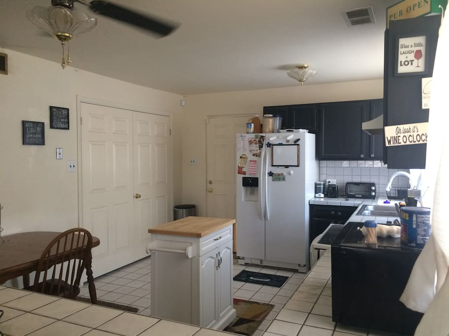 Open Kitchen with Laundry Room