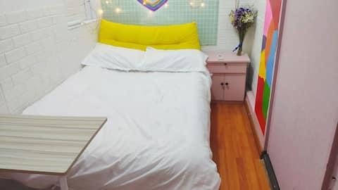 【二猫的家】滨湖温馨软床房/地铁100米