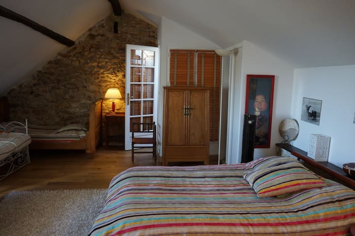 RAFAEL chambre famille 32M2 avec Petits Déjeuners - Feucherolles - Guesthouse