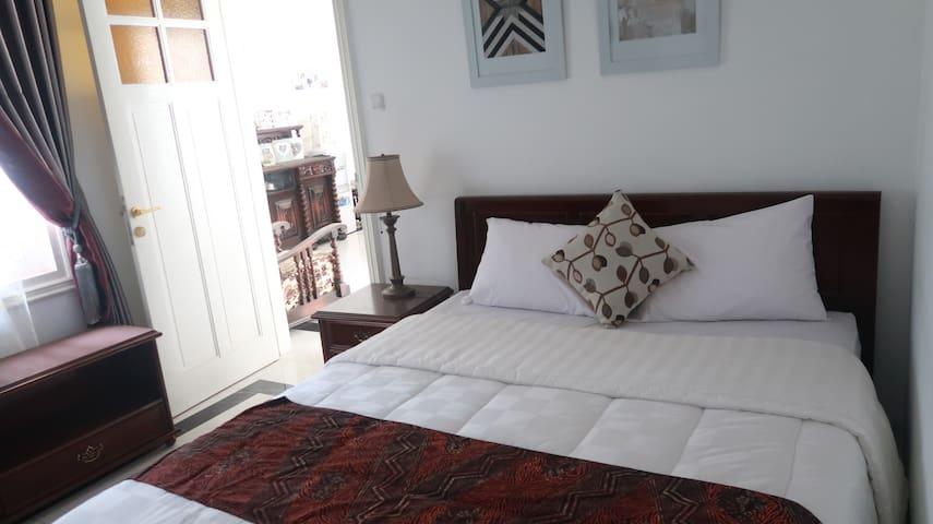 Bedroom 3 (Double bed), AC,  Bathroom, Garden View