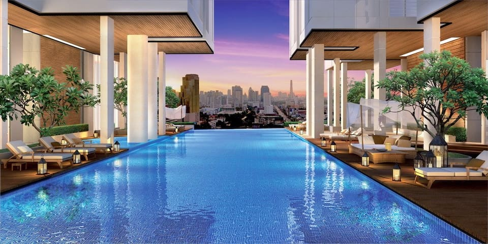 LUXURY SUPREME 2BR APT-CENTRAL BKK-WIFI-POOL-GYM - Banguecoque - Apartamento