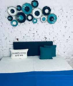 the cozy BLUE den