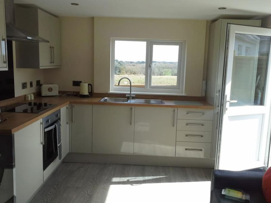 Kitchen Area with Fantastic Countryside Views