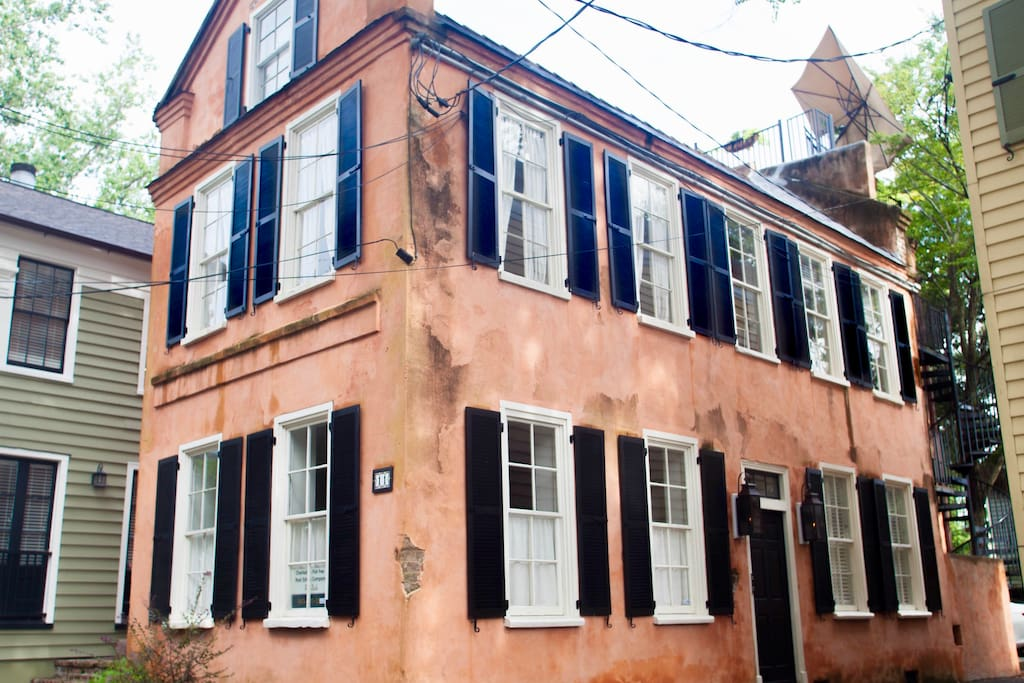 "Circa 1830 Charleston ""single"" house, fully renovated."