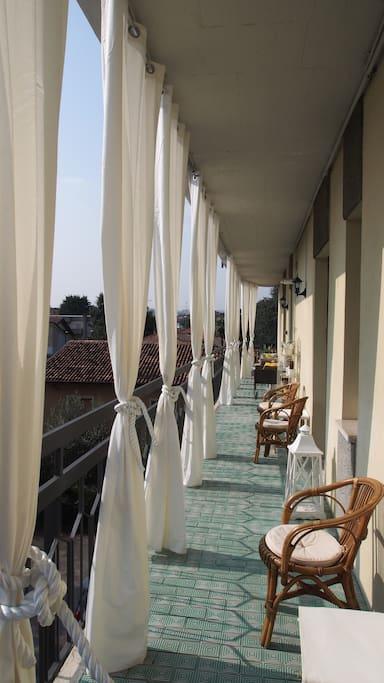 balcone attrezzato