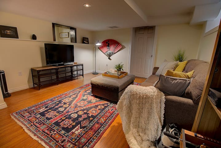 Cozy newly renovated basement apartment.