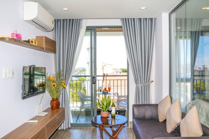 Betania Home Danang beach Studio, sunshine balcony