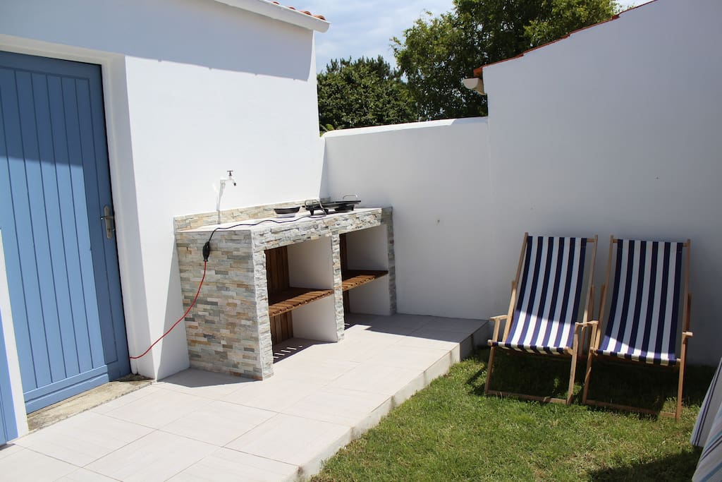 La cuisine d'été, pratique pour les retours de plage !!