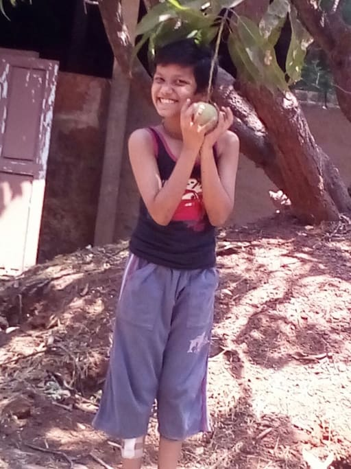 Guest Enjoying Mangoes