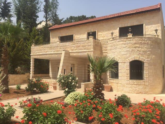 Amal house Jordan.villa 320 sq.m,area 7000 sq.m