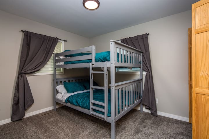 Bunk bed with 2 full size beds  Closet space