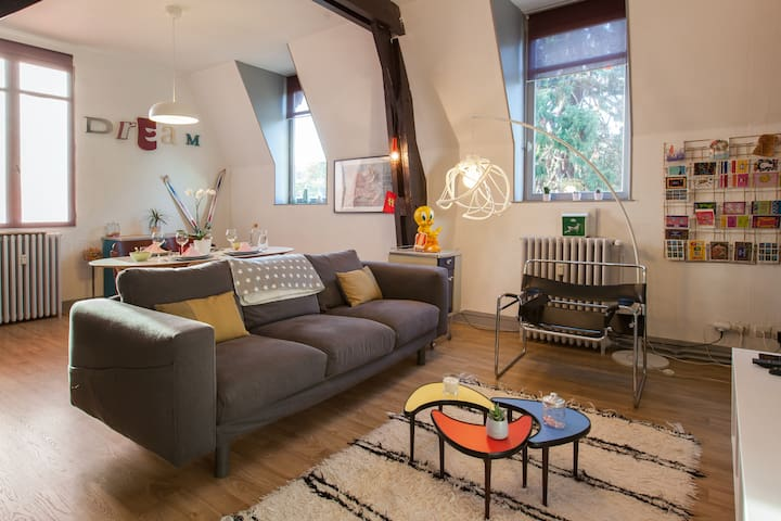 Charming duplex I 60 sqm I 200m from Train station