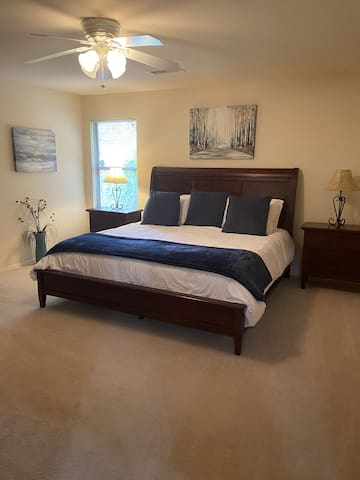 King bed with new mattress
