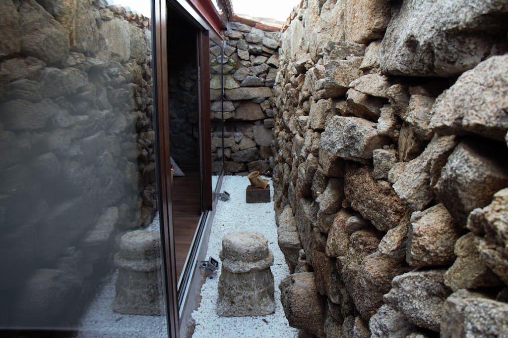 original corridor between all the bedrooms