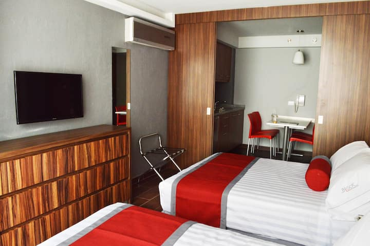 All you need's Block Suites. 2 beds