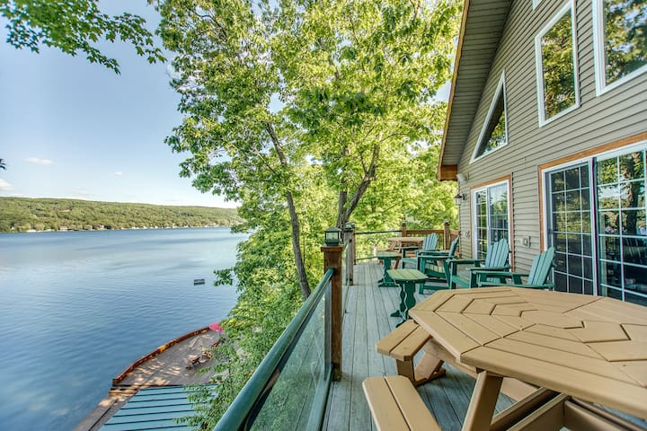 View of the lake from the front deck