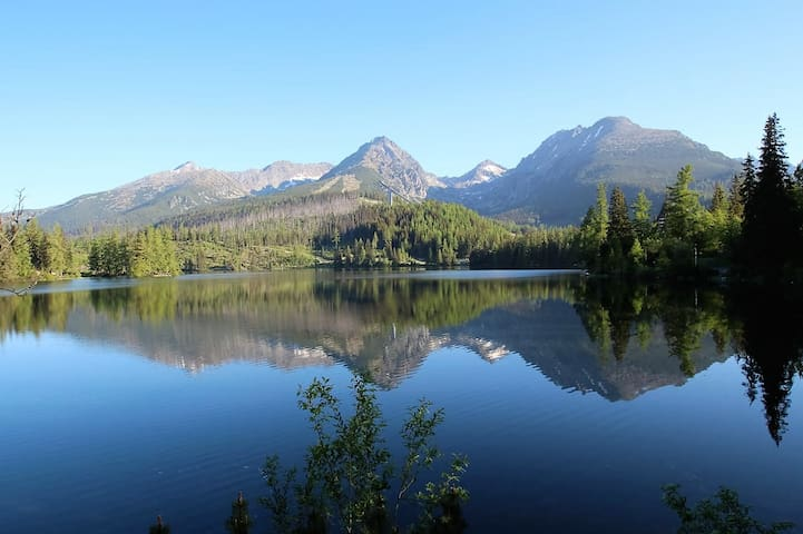 Just 15 minutes by walk from Strbske Pleso (main attraction)
