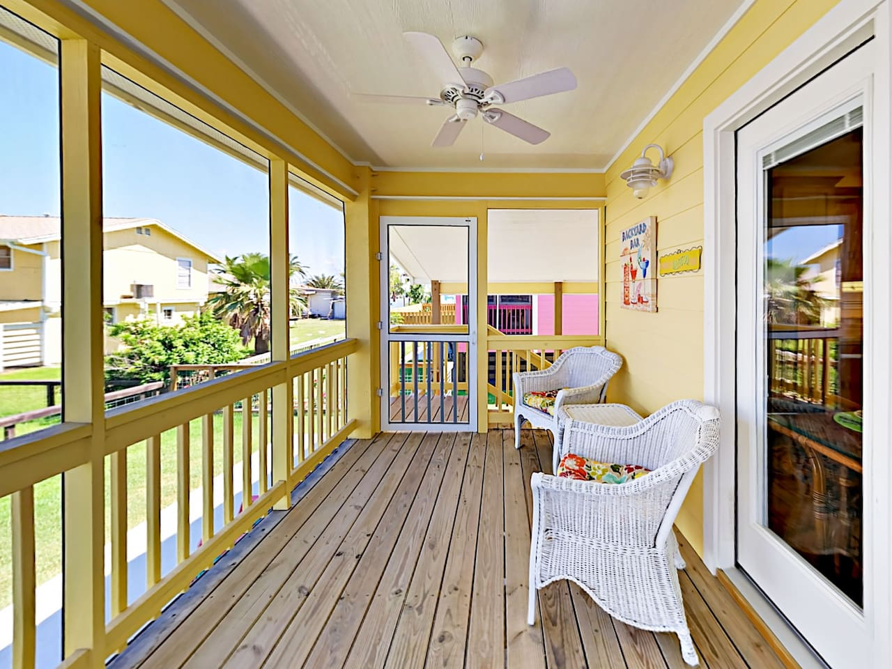Welcome to Rockport! Retreat to the screened porch overlooking the backyard.