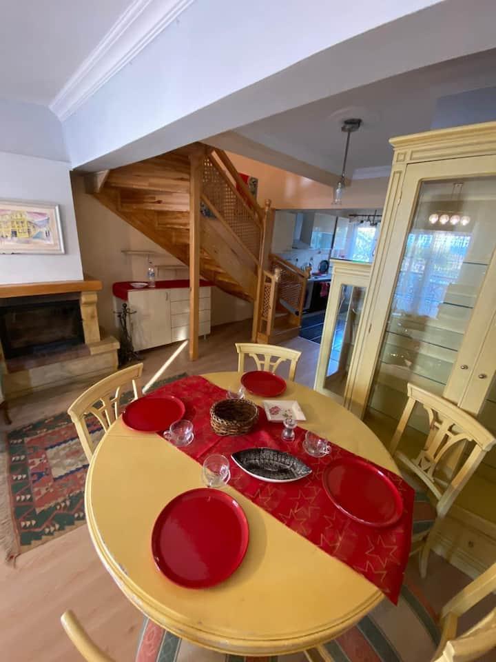 Cunda Adasında full eşyalı kiralık villa