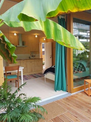 Wunderschöne FeWo 1 in neuem Holzhaus 100m zum See