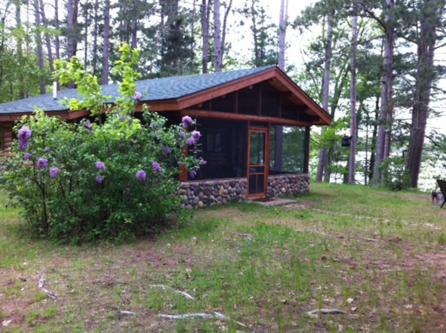 Log cabin at spider lake cabins for rent in iron river for Wisconsin log cabin