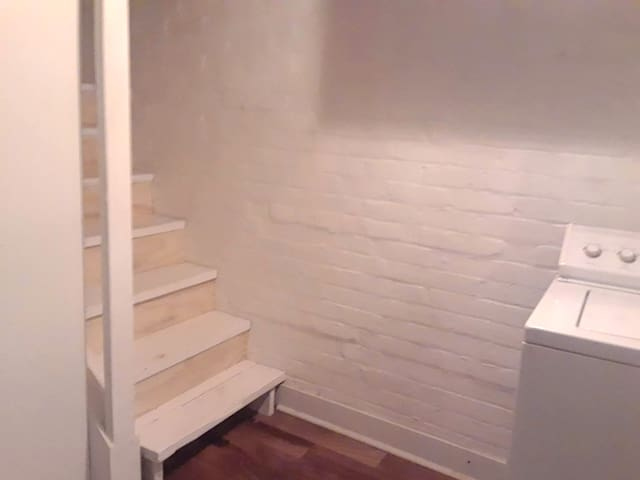 Stairs to the bath in the basement