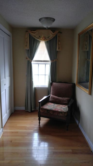 Reading chair and closet