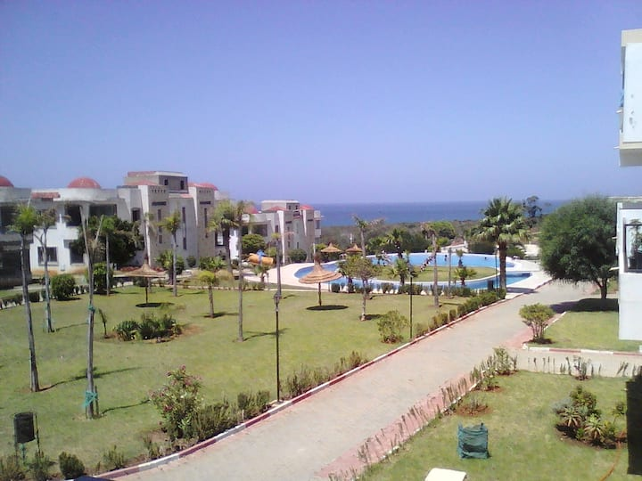 Appt avec piscine 100m plage Achakkar