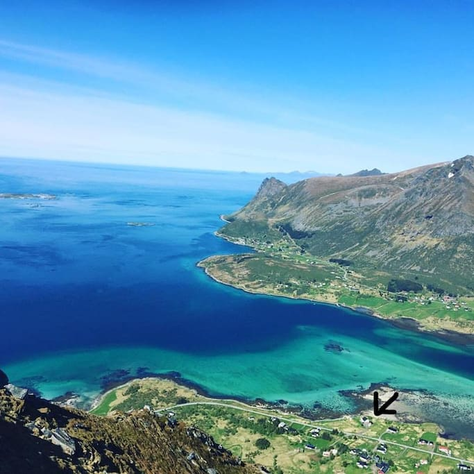 """Overview of Rystad, picture taken from the mountain """"Kleppstadheia"""""""