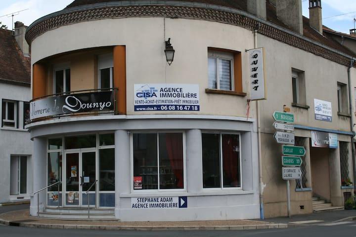 vue du rez-de-chaussée de la maison en arrivant de Bergerac