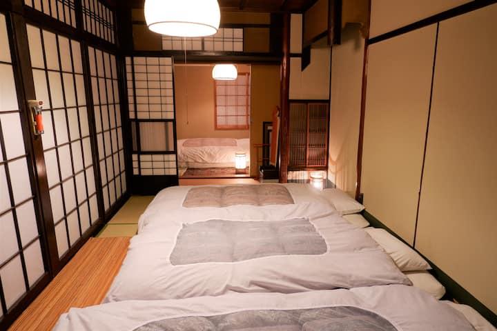 澤食 しずの間 ほんまもんの町家。宮川町のど真ん中にお泊りやす。4人までお泊りできるプラン
