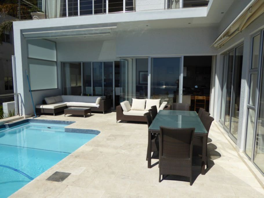 Veranda with sparkling pool
