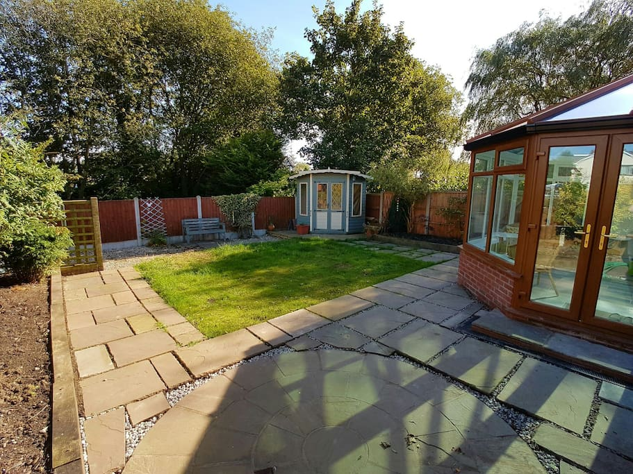 Garden patio for BBQ (provided)