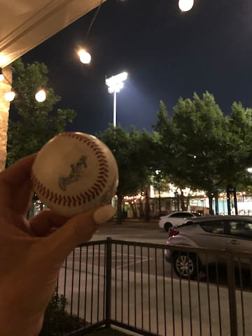 Foul ball that came from the stadium to my patio