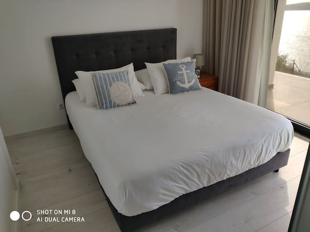 Master suite 1 with king size bed and shower room