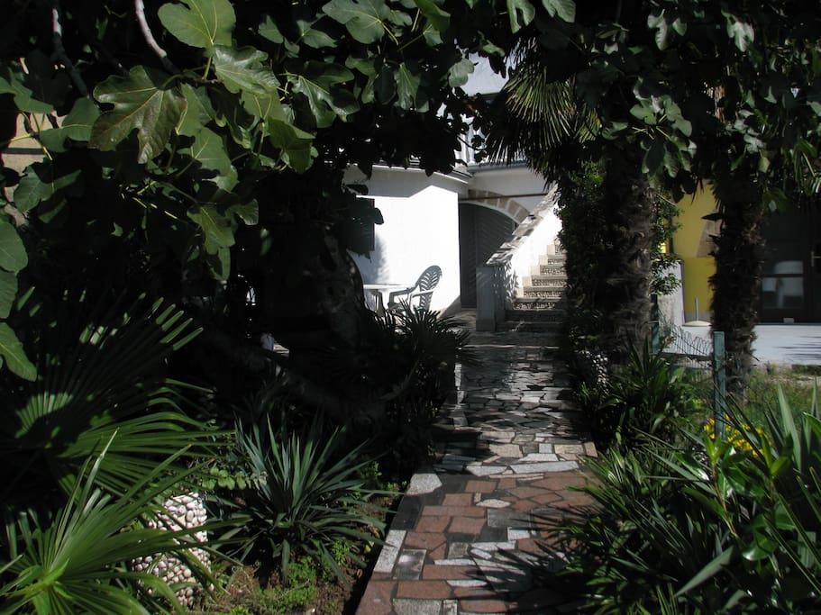 Eingangsbereich vom Haus mit Treppe