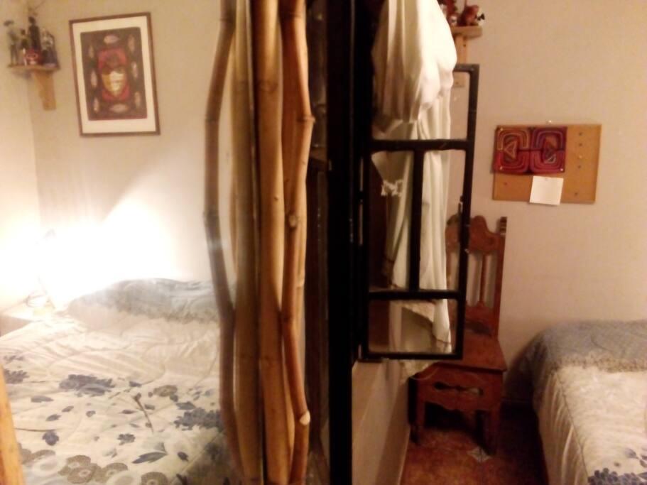 Esta habitaciòn tiene mucha privacidad y una atmòsfera muy acogedora
