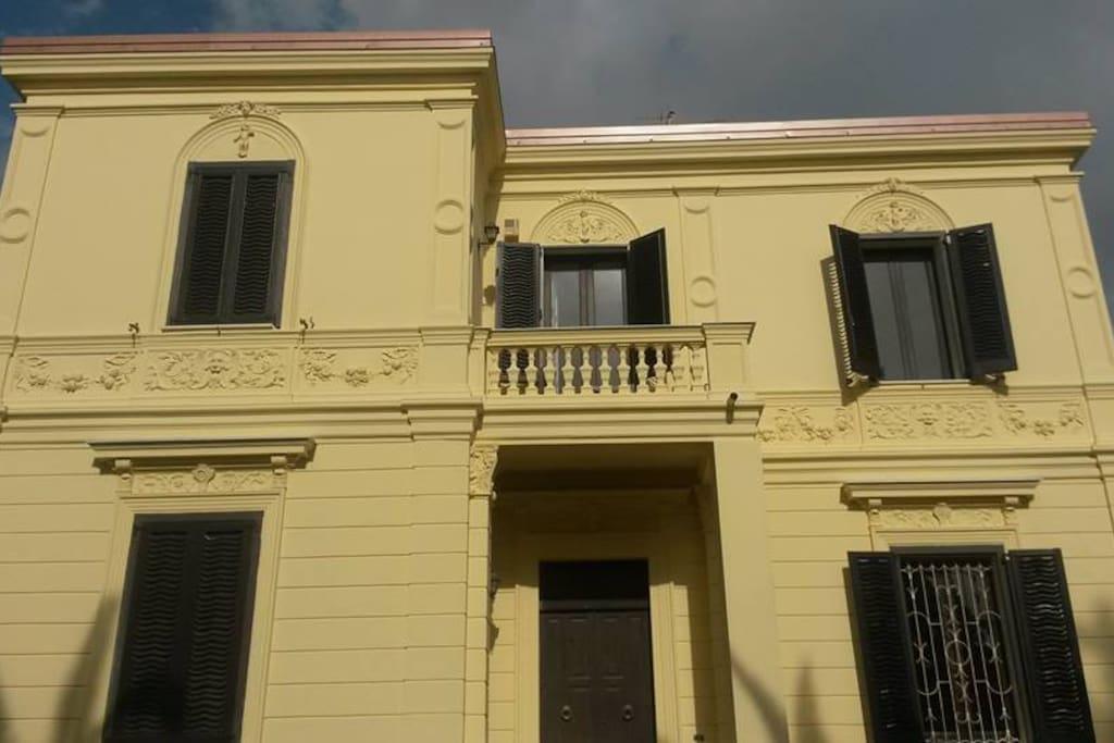 Inquadratura della facciata.
