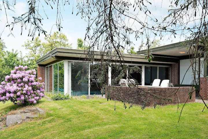 Retro holiday home in Aarhus with a swimming pool