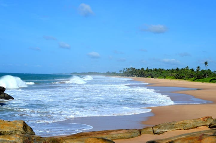 The gorgeous stretch of private beach