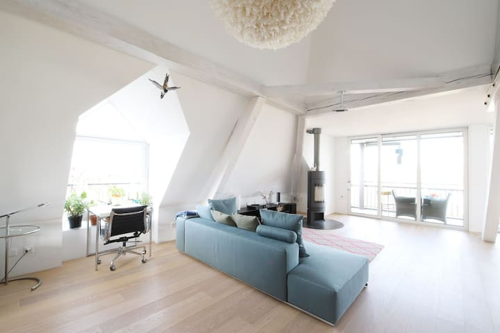 Designer flat filled with Art in Basel