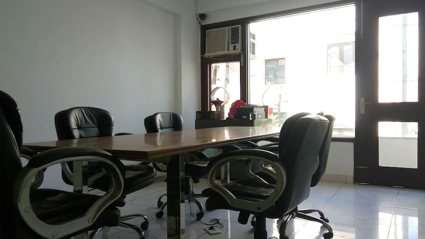 On request you can you meetings rooms.  Same building.