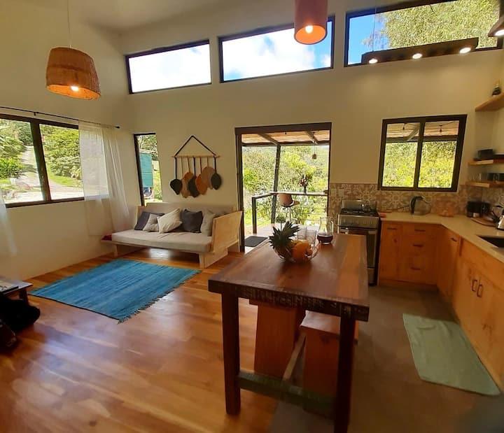 Chic modern house in ecological, regenerative farm