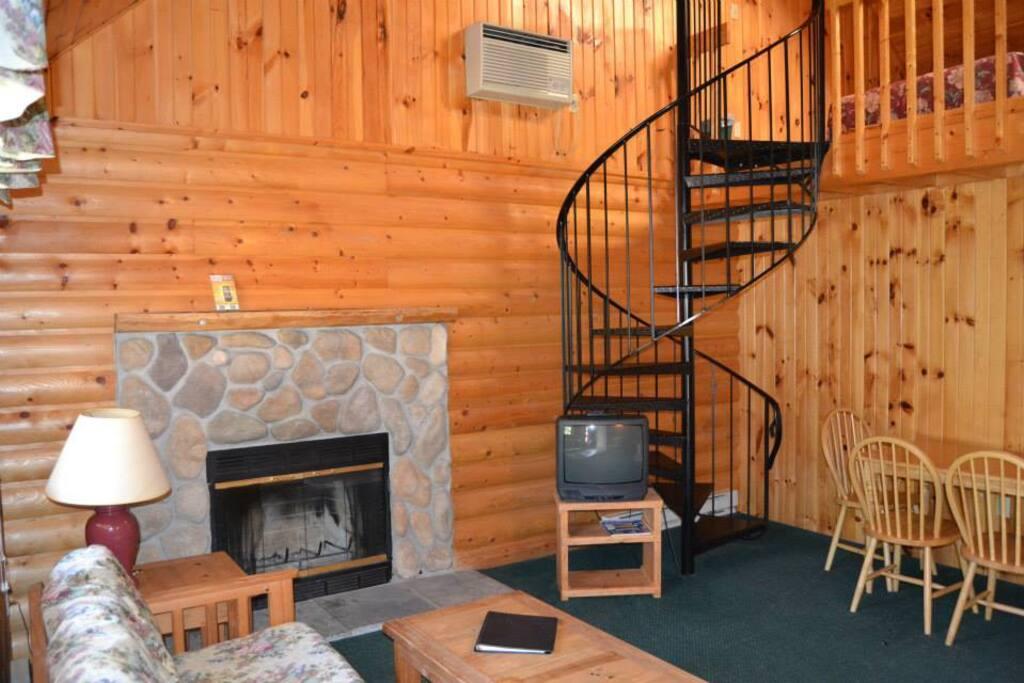 Rustic Cabin Getaway Duplex Loft Style Cabin A Cabins