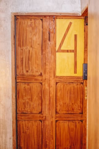 The door uses a key card system.