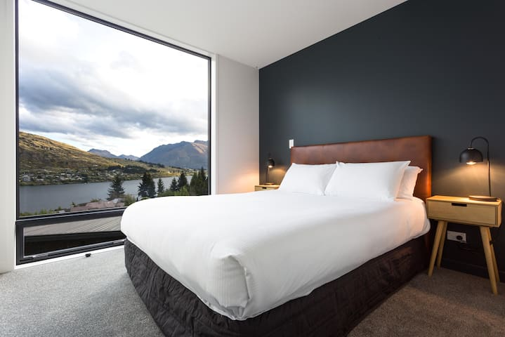 Bed Room 2 - perfect place to relax and wake up and enjoy the stunning mountain lake views.