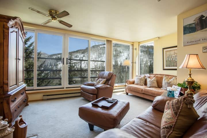 No car Necessary, Winter Shuttle, On Bus Route, Close to Slopes, Heated Indoor Pool & Hot Tubs!